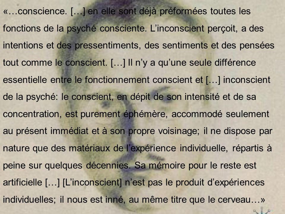 «…conscience.[…] en elle sont déjà préformées toutes les fonctions de la psyché consciente.